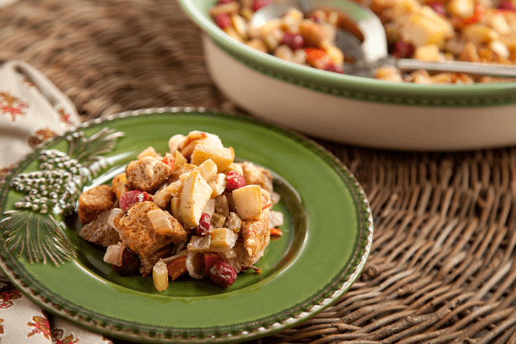 Apple-Cranberry Stuffing Recipe