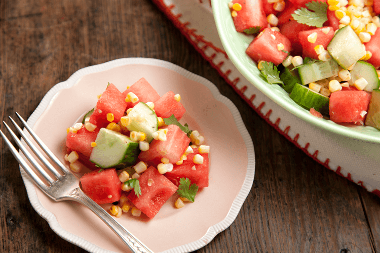 Grilled Corn and Watermelon Salad Recipe