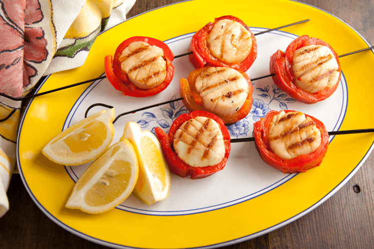 Red Pepper and Scallops