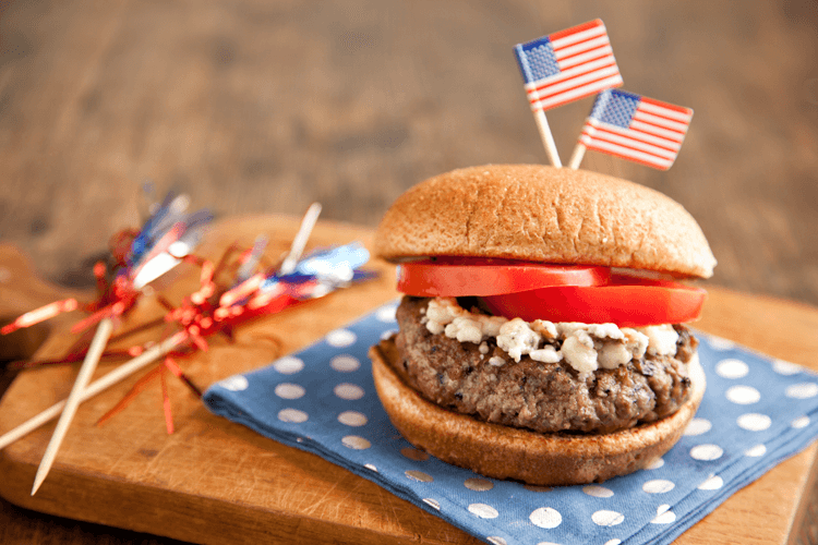 Red White and Blue Cheese Burger Recipe